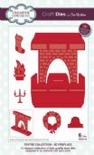 Sue Wilson Craft Dies - Festive Collection - 3D Fireplace - CED3115